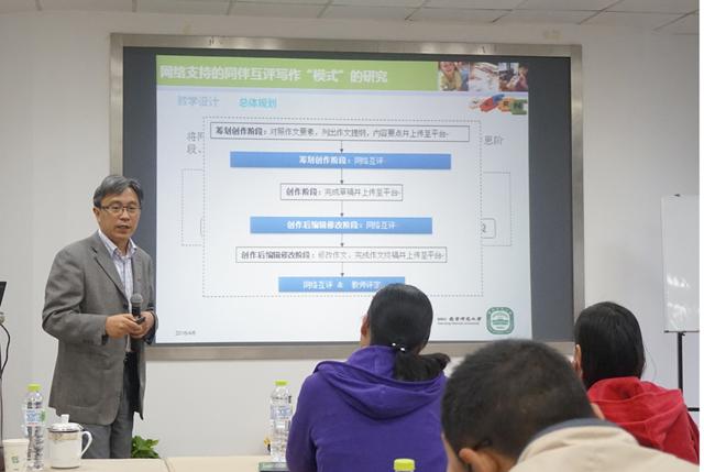 """张义兵教授专题讲座《《走向知识创新学习——以""""网络支持下的同伴互评写作模式""""为例》》"""